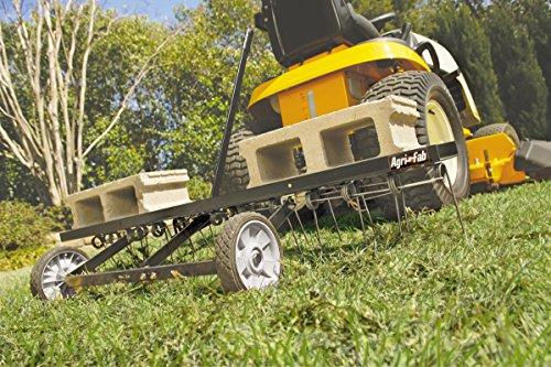Agri-Fab AG45-0295 48-inch Working Width Spring-Tine Dethatcher – Black