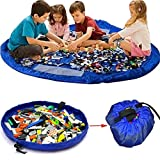 Fineway® grande impermeabile portatile 2in 1Toy Kids Play Mat and Toy Storage Bag con coulisse