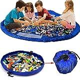 Fineway® Spielmatte und Spielzeugaufbewahrung, groß wasserdicht, tragbar, 2-in-1-Spielzeug-Aufbewahrungstasche mit Kordelzug