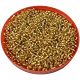 eshoppee Yellow,gold family colors glass seed beads pot 100 gm (approx 3000 beads) for jewllery making and home decoration,DIY kit (gold -08) size 8/0