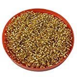 #10: eshoppee Yellow,gold family colors glass seed beads pot 100 gm (approx 3000 beads) for jewllery making and home decoration,DIY kit (gold -08) size 8/0