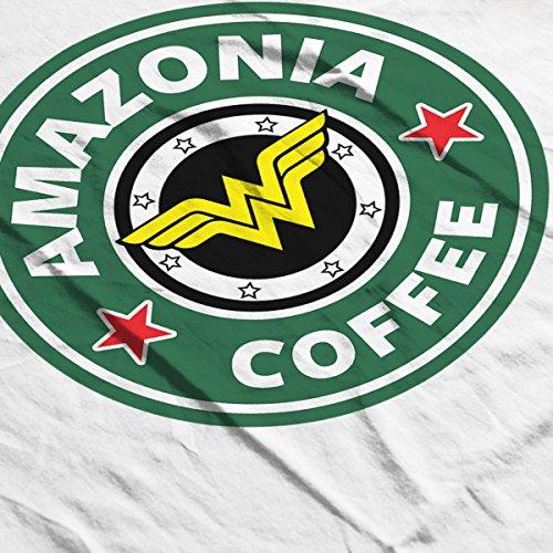 Wonder Woman Amazonia Coffee Starbucks Logo Men's Vest White