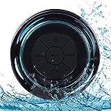 Bluetooth Duschlautsprecher, IP67 Wasserdichter Tragbarer Lautsprecher Dusch FM...