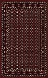 Carpetsale24 Orientteppich für Wohnzimmer kurzflor Pflegeleicht Orientalisch Traditional Afghanischer Muster Oeko Tex Standarts Rot, Maße:300x400 cm