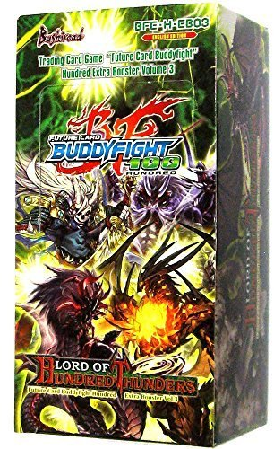 Lord Of Hundred Thunders Extra Booster Box - Future Card Buddy Fight 100  TCG English BFE-H-EB03 - 15 packs of 5 cards each by Bushiroad