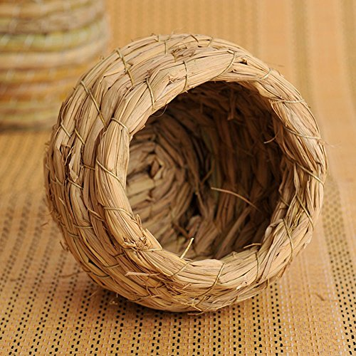 small-animal-straw-house-bed-karo-cylinder-wooden-seesaw-toy-for-mouse-and-dwarf-hamster-grass-nest