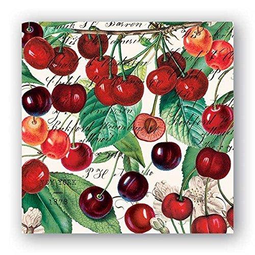 Michel Design Works Black Cherry Cocktail Servietten, 20Stück