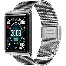 Fitness Tracker - Reloj Inteligente con medidor de presión Arterial y podómetro, Impermeable, Contador