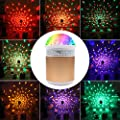 Bluetooth Disco Lights, Danolt Portable DJ Stage Crystal Magic LED Lamp Projector Color Changing Glitter Music Player Lighting Decor for Bar KTV Kids Birthday Party Karaoke Dancing Show Wedding