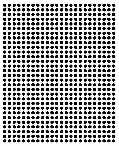 1440Sticky lunares, 5mm, Negro, en PVC película resistente a la intemperie, codificación Dots, círculos, puntos adhesivos