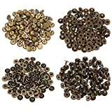 Botones de Presión de Bronce Corchetes de Presión de No Coser Ropa, 10 mm, 100 Conjuntos