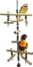 Kletterleiter aus Holz für den Käfig, Sitzstange, Spielzeug für Vögel, Papageien, Wellensittiche, Sittiche, Nymphensittiche, Agapornis, Finken, Graupapageien, Aras, Amazonenpapageien