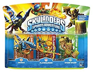 Skylanders: Spyro's Adventure - Triple Character Pack - Drobot, Stump Smash and Flameslinger (Wii/PS3/Xbox 360/PC)