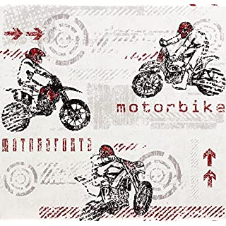 Motorbike Wallpaper Vehicle Wheels Arrows Sport Textured 2 Colours AS Creation