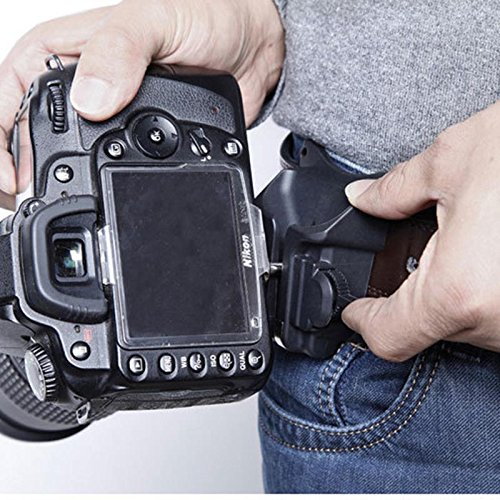 Hongfei DSLR-Kamera-Holster-Gurt, schnelle DSLR-Kamera-Foto-Holster-Taille Gürtelschnalle-Knopf-Befestigungs-Bügel für Canon Nikon Sony ect