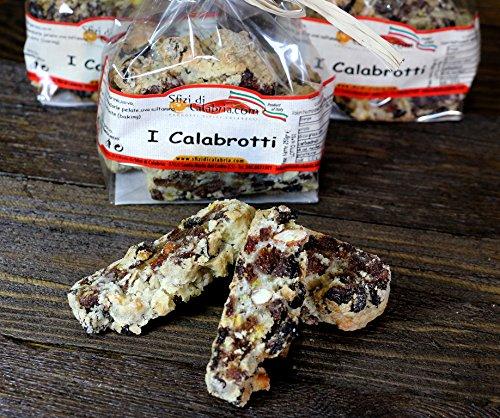Biscotti tipici calabresi, i calabrotti pasta frolla con mandorle e uva passa busta 250gr pasticceria specialità di calabria.prodotti dolciari