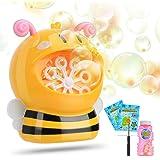 HellDoler Pompas, Pomperos para Niños,Máquina de Burbujas en Forma de Abeja, Pompas de Jabon,Pompas de Jabón para Bodas, Pomp