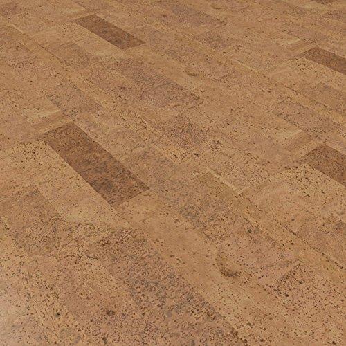 CORCASA Korkboden Design strukturiert Hartwachsöl Klicksystem warmer Kork Bodenbelag Klick Puna