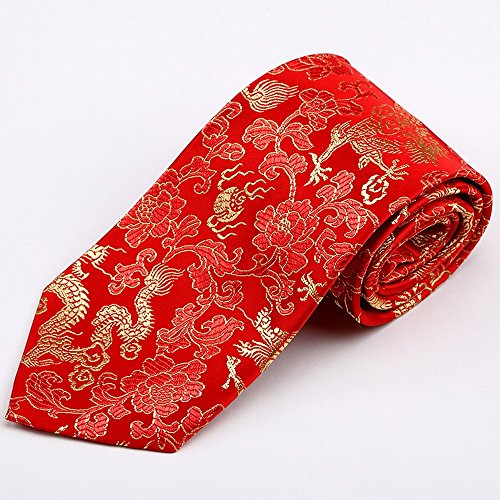 ZBPD Auspicious Geschenkboxen Brocade Tie Features Krawatte Funktionen Handwerk Geschenke,F,150 * 9,5 * 3,5 cm -