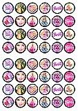 48 Barbie, Essbare PREMIUM Dicke GEZUCKERTE Vanille, Reispapier Mini Cupcake Toppers, Cake Pops, Cookies für Wafer