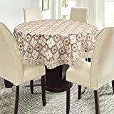E-Retailer Stylish Waterproof 4 Seater Round Table Cover With White Lace (60 Inch Diameter)