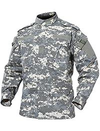 TACVASEN Militar Hombres Ejército Camisa Camo Uniforme Táctico Caza Chaqueta