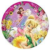 Procos 5290–Pappteller Disney Fairies, Ø23cm, 10Stück, Pink