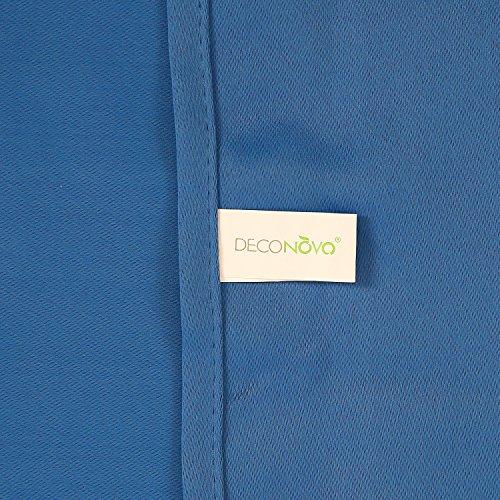 Deconovo Verdunkelungsgardinen mit Ösen Vorhang Blickdicht Ösenvorhang Blickdicht 245×140 cm Blau 2er set - 5