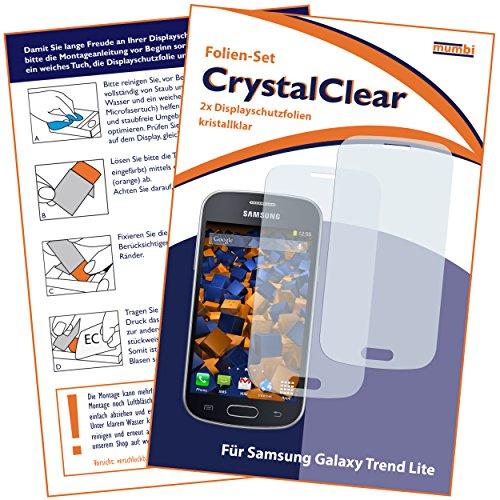 2 x mumbi Displayschutzfolie Samsung Galaxy Trend Lite Schutzfolie