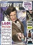 Doctor Who Matt Smith with Tardis MULTI ACTIVITY BIRTHDAY CARD (Mini Comic Book Puzzles Stickers inside)