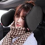 Autokissen,Royago Auto Hals Kissen Nackenstütze,Komfortabel Unterstützung auf beiden Seiten Autositz Kopfstütze Nacken Kissen(Schwarz)
