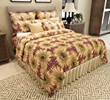 Home Candy Cotton Double Bedsheet with 2 Pillow Covers - Multicolour