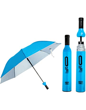 49a503aea Bonfire Foldable Windproof Double Layer Umbrella with Bottle Cover Umbrella  for UV Protection & Rain (