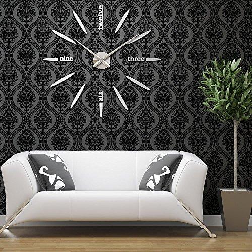 Diy Wall Clock Sinto Modern 3d Frameless Large Wall Clock