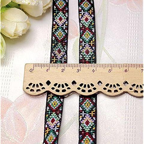 Poliestere/Cotone Nastro Nero/accessori di abbigliamento borse estate Tappetino bordo, figure, 1cm