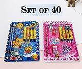 #8: TiedRibbons Kid's Birthday Party Return Gift Sets for Boys Girls Kids Stationary Set(Set of 40)