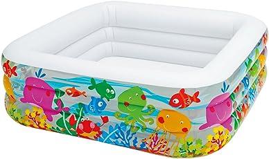 Intex 57471NP - Aufblasbarer Pool Swim Center Clearview Aquarium, 62 x 62 x 19 Zoll