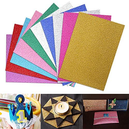 lätter, Glitzerblätter für das Handwerk 10 Sheets Glitter Foam Sheets Sticky Back Craft DIY DIY-Projekte, Klassenzimmer, Home Decor Parteien Karte Kinder Handwerk Aktivitäten DIY ()