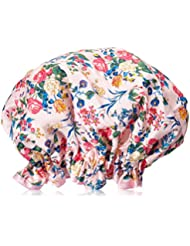 The Vintage Cosmetic Company Bonnet de douche Motif floral Rose en Satin