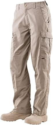 Tru-Spec 24-7 1026044 Cargo Pocket Pants, Polyester Cotton Rip-Stop, 30 Length, 32 Width, Khaki