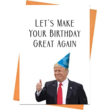 Donald Trump Hates You Funny Birthday Card Amazoncouk Office