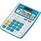 Casio MJ-12VCb-BU 300 Steps Check & Correct Colourful Desktop Calculator (Blue)