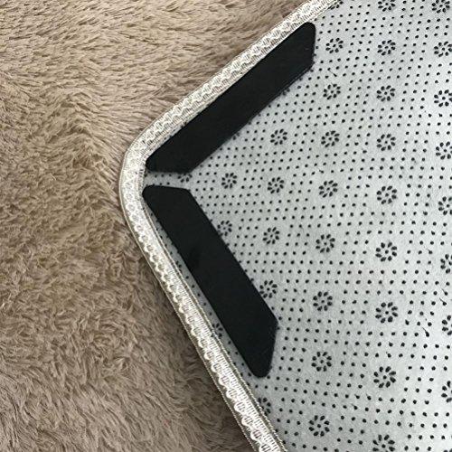 Teppich Greifer erthome Anti Rutsch Matte stop teppich unterlage, 8 Stücke Teppich Pad Rutschfeste Aufkleber Antirutschmatte Pads Anti Slip (Schwarz) -