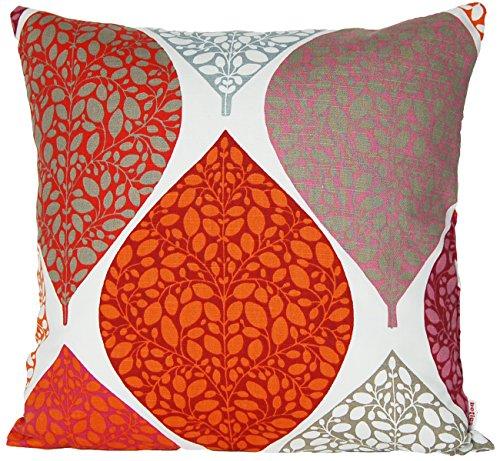 beties Momente Kissenhülle ca. 40x40 cm in interessanter Größenauswahl hochwertig & angenehm 100% Baumwolle Farbe (Bohemian Mohn)