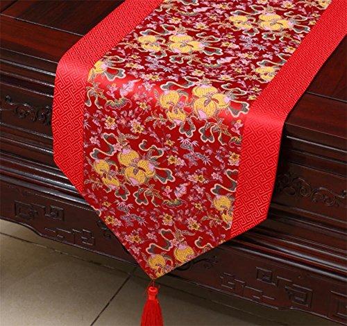 Preisvergleich Produktbild XXFFH Tischläufe Klassische Chinesische Wachstuch Tischläufer Europäisches Modernes Kreistischtuch , E , 33*230Cm
