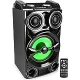 Fenton LIVE102 Megasound Party Box 300 Watts Bluetooth, Enceinte Active, SD et USB, Ecran de lecture LCD, 2 entrées micro (ja
