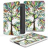 MoKo Kindle Paperwhite Funda - Ultra Slim Ligera Smart Shell Case Cover con Auto Estela / Sueño para Amazon All-New Kindle Paperwhite ( Ambos 2012, 2013, 2015 y 2016 Versións ), Lucky Tree