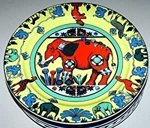 Bopla! Omari Grande assiette en porcelaine Jaune