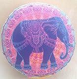 Meditationskissen Yogakissen mit abnehmbarem Bassetti Bezug Elefant Tantra Meditation Lotos Mandala Yoga in