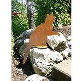 EQT-TEC Gartendekoration Katze Edelrost Figuren Garten Deko Dekoration Draußen Skulptur